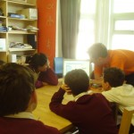 Pupils from St Mary's Primary School learn about radio at ALL FM